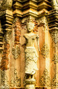 The Carvings & Sculptures Of The Ancient Thai Temples Royalty Free Stock Photography - 32804797