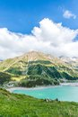 Spectacular Scenic Big Almaty Lake ,Tien Shan Mountains In Almaty, Kazakhstan Royalty Free Stock Images - 32811879