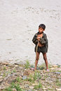 Portrait Of Nepalese Herder Boy With A Rod Stock Image - 32818781