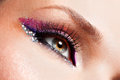 Woman Eyes With Beautiful  Fashion Bright Pink Make-up Stock Photos - 32823493