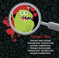 Magnifying Glass And Microbe In It. Stock Photos - 32825453