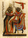 Papyrus Painting Pharaoh And Queen Royalty Free Stock Photo - 32826985