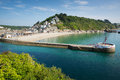 Cornwall Harbour Wall Looe England UK Royalty Free Stock Photos - 32827148