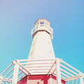 Lighthouse With Blue Sky, Retro Effect Stock Photography - 32846022