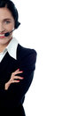 Cropped Image Of A Help Desk Executive Royalty Free Stock Photo - 32848375