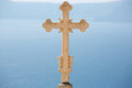 Close-up Of An Marvelous Sculpted Orthodox Cross Stock Photo - 32872040