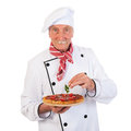 Italian Cook With Pizza Stock Photography - 32873702
