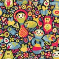 Cute Monsters Seamless Pattern. Royalty Free Stock Image - 32879496