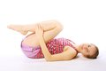 Shot Of A Sporty Young Woman Doing Yoga Exercise. Stock Photos - 32888293
