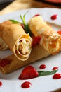 Pancakes With Strawberry Stock Photography - 3295322