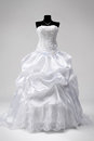 Wedding Dress On A Mannequin Stock Images - 32901734
