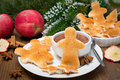Christmas Breakfast - Toast In The Shape Of Little Men Stock Photography - 32902932