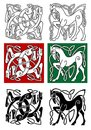 Celtic Horse And Abstract Monster Stock Photo - 32904770