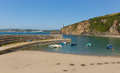 Polkerris Cornwall England With Blue Sean And Sky Royalty Free Stock Image - 32908616
