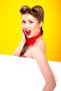 Pin-up Girl In American Style Stock Image - 32910931