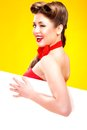 Pin-up Girl In American Style Royalty Free Stock Photography - 32911027