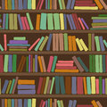 Seamless Pattern Of Bookshelf With Books Stock Image - 32913231
