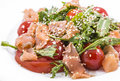 Salad Of Red Fish With Tomato And Sesame Stock Photos - 32917433