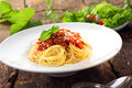 Italian Pasta With Bolognese Sauce Royalty Free Stock Photography - 32923067