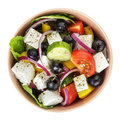 Fresh Greek Salad In Clay Bowl Royalty Free Stock Photography - 32953847
