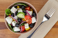 Fresh Greek Salad In Clay Bowl Royalty Free Stock Photo - 32953855