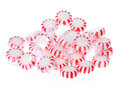 Peppermint Candy Pile Isolated On White. Stock Photos - 32954043