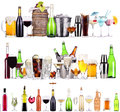 Set Of Different Alcoholic Drinks And Cocktails Royalty Free Stock Images - 32986869