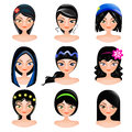 Face Of Women Cartoon Royalty Free Stock Photography - 32998697