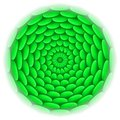 Circle With Roof Tile Pattern In Green. Stock Photography - 33005612