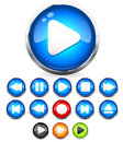 Shiny EPS10 Audio Buttons /play Button, Stop, Rec, Rewind, Eject, Next, Previous  Buttons Stock Photography - 33012202