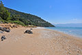 Empty Beach On Coast Of Samos, Greece Stock Photo - 33014370