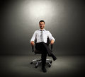 Boss Sitting On Chair Stock Images - 33016394
