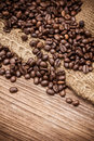 Fresh Coffee Beans On Wood Background Royalty Free Stock Image - 33020706