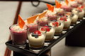 Mousse In Small Glass Selective Focus Stock Photos - 33031603