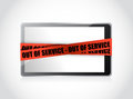 Tablet Out Of Service. Illustration Concept Design Royalty Free Stock Photo - 33033765