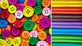 Colorful Buttons And Clay Stock Photo - 33038250