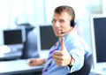 Business Man Going Thumbs Up Royalty Free Stock Photography - 33039257