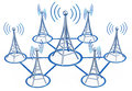 Digital Transmitters Sends Signals From High Tower Stock Photography - 33041662