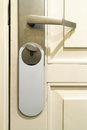Door Handle With Hanging Sign Royalty Free Stock Photos - 33045778