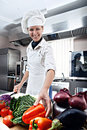 Woman Chef Royalty Free Stock Photography - 33049877