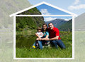 Happy Family Spends Time Together On Nature Stock Images - 33051434