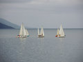 Yachts In A Stormy Cloudy Day Royalty Free Stock Photo - 33064345