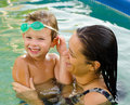 Mother And Son In The Swimming Pool Stock Photos - 33069153