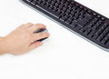 Hand Holding Computer Mouse Stock Images - 33073594