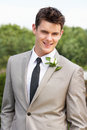 Portrait Of Groom At Wedding Royalty Free Stock Photo - 33081355