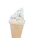 Sprinkle Soft Serve Ice Cream Royalty Free Stock Photo - 33085475