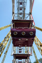 Ferris Wheel Cabin Close-up Against Blue Sky Stock Photography - 33091312