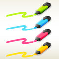 Four Markers In Different Colors Stock Photo - 33096880