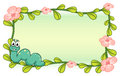A Caterpillar And A Flower Plant Frame Stock Photo - 33096960