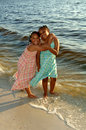 Sisters At The Beach Stock Image - 3312701